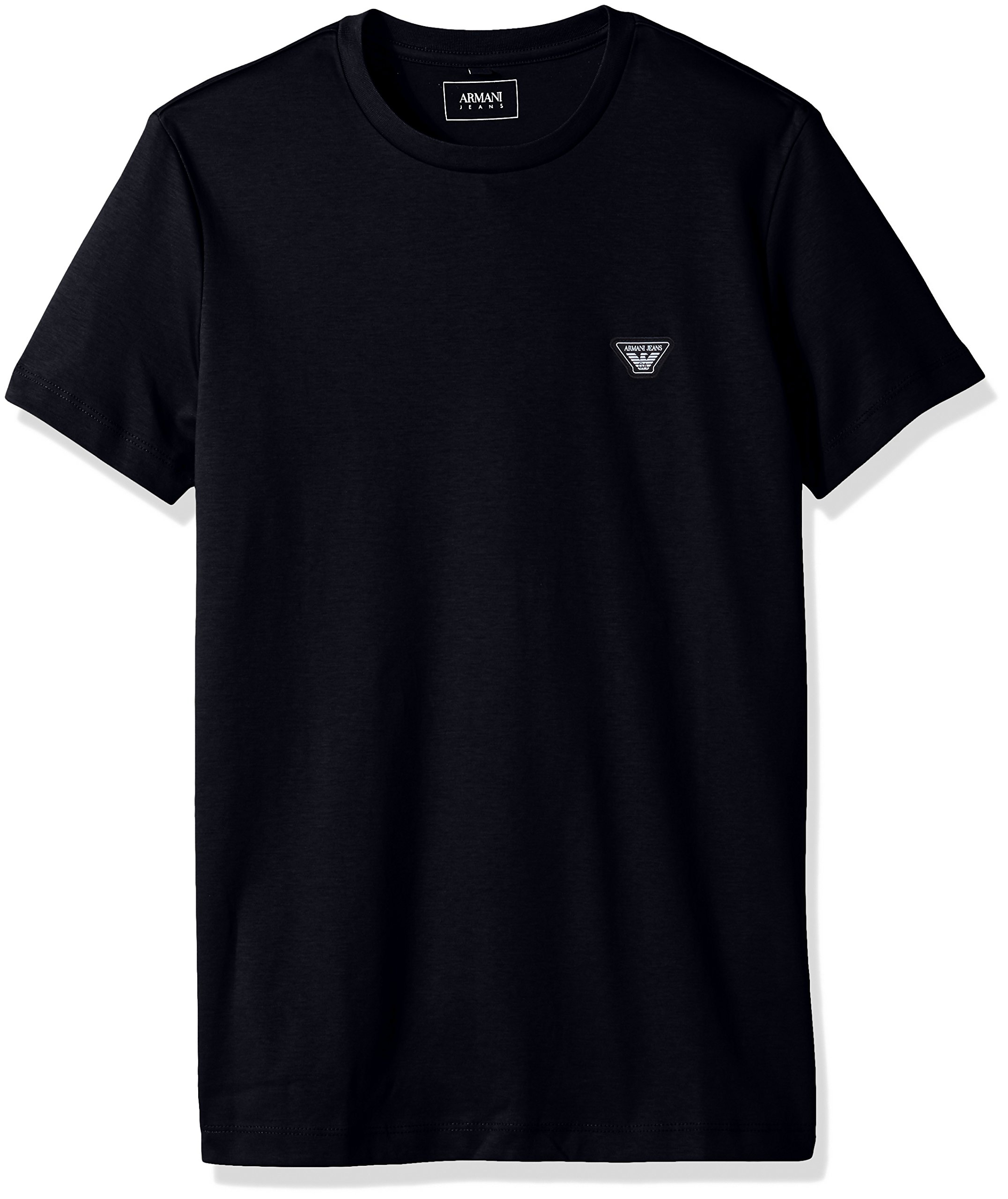 ARMANI JEANS Men's Cotton Jersey Small Eagle Logo Tshirt, Blue Medium