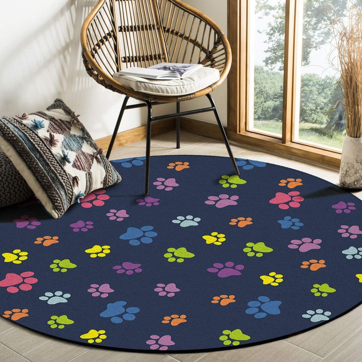 Funny Dogs /& Motorcycle Round Area Rug Bedroom Floor Carpet Memory Foam Yoga Mat