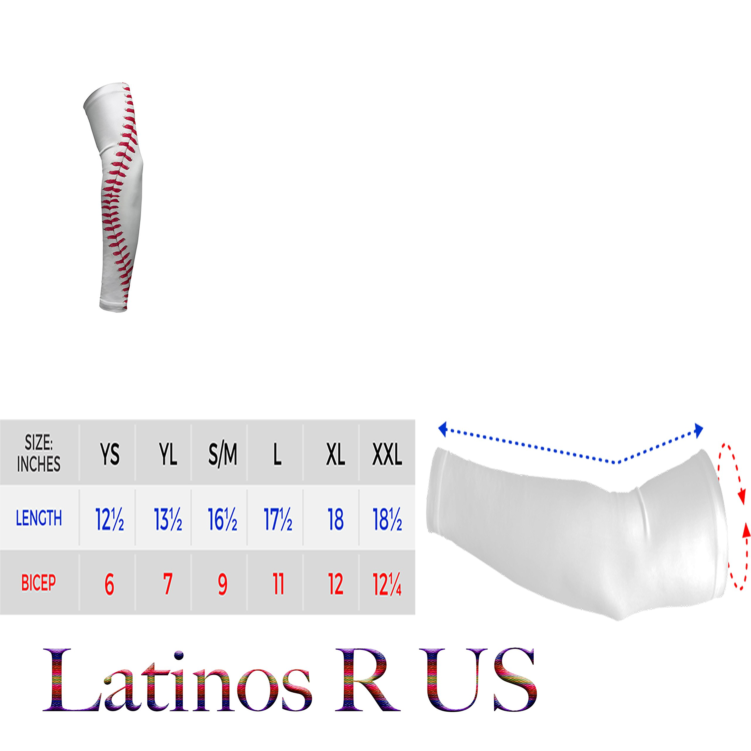 Dominican Republic Flag Baseball Lace Arm Sleeve M 2-pack by SLEEFS (Image #1)