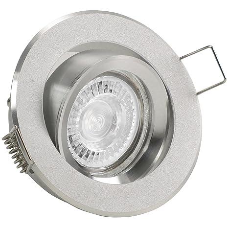 10 – Juego de 12 Foco binaro (redondo) aluminio plata; 230 V GU10