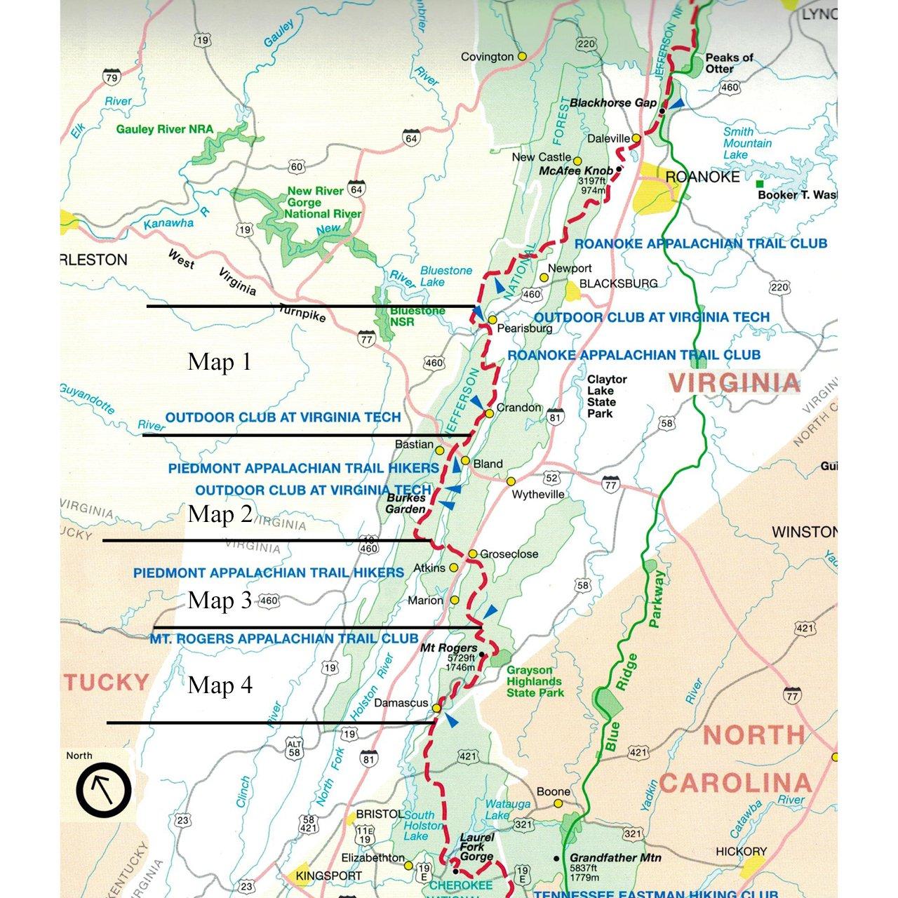 Official Southwest Virginia Appalachian Trail Maps Appalachian Trail