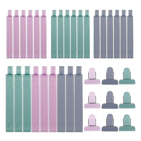 RZKJ-SHOP Pinzas de Plástico 36 Unids Cerrar Bolsas Colorear Clips de Sellado para Alimentos Aperitivos Cocina