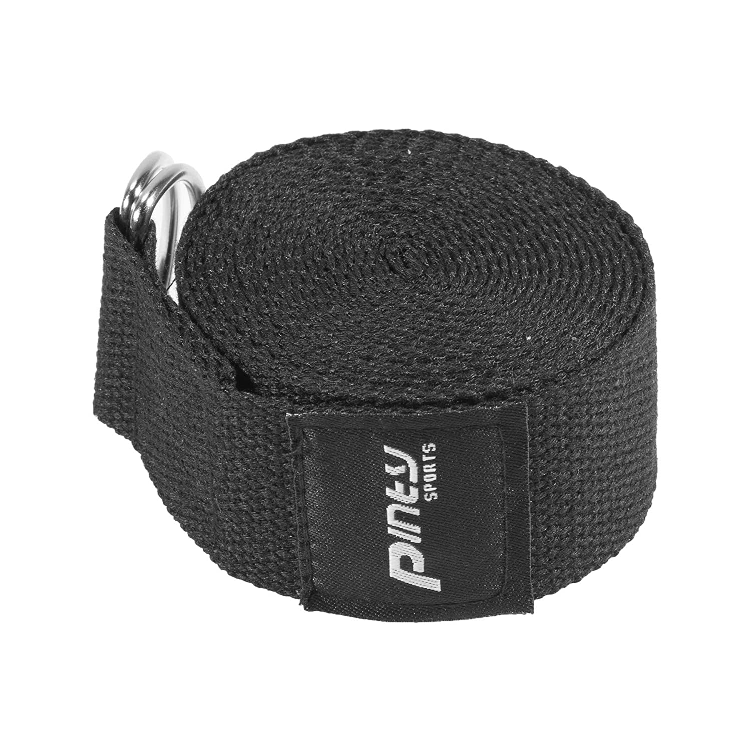 Pinty Yoga Strap 8ft/10ft – Durable Cotton Exercise Straps w/Adjustable D-Ring Buckle for Fitness, Stretching, Yoga and Flexibility