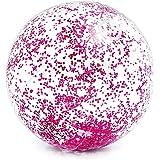 Bola de Praia Transparente com Glitter Intex 71cm