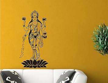 Buy Godess Lakshmi MATA Black Wall Sticker Size59 99 Cm Online