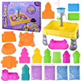Magic Sand Table Space Sand Toys Play Set For Kids, Sand Toys Multiple Castle Model and Accessories, Creative Sand Molding, Educational Toy, DIY Gift, 4lb Play Sand Included Water Wheel – 20 PCs