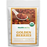Healthworks Golden Berries (16 Ounces / 1 Pound) | Raw | Certified Organic & Sun-Dried | Gooseberries | Keto, Vegan…