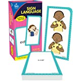 Carson Dellosa American Sign Language Flash Cards—Double-Sided, 122 ASL Signs With Illustrations and Word Associations, Alpha