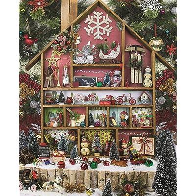 Springbok 1000 Piece Jigsaw Puzzle Christmas Country Home: Toys & Games