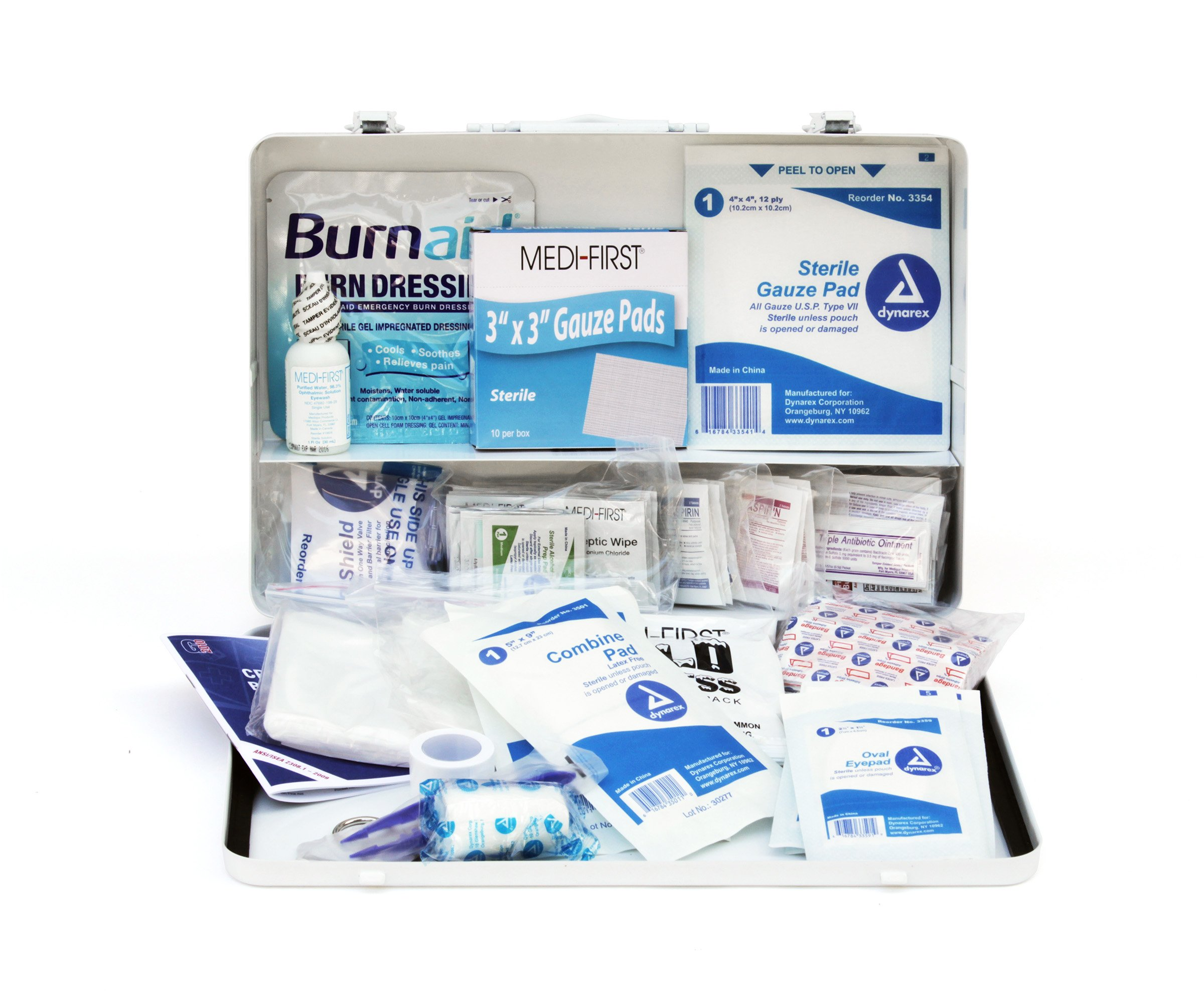 Medique Products 807ANSI Filled Fifty Person Metal First Aid Kit by Medique