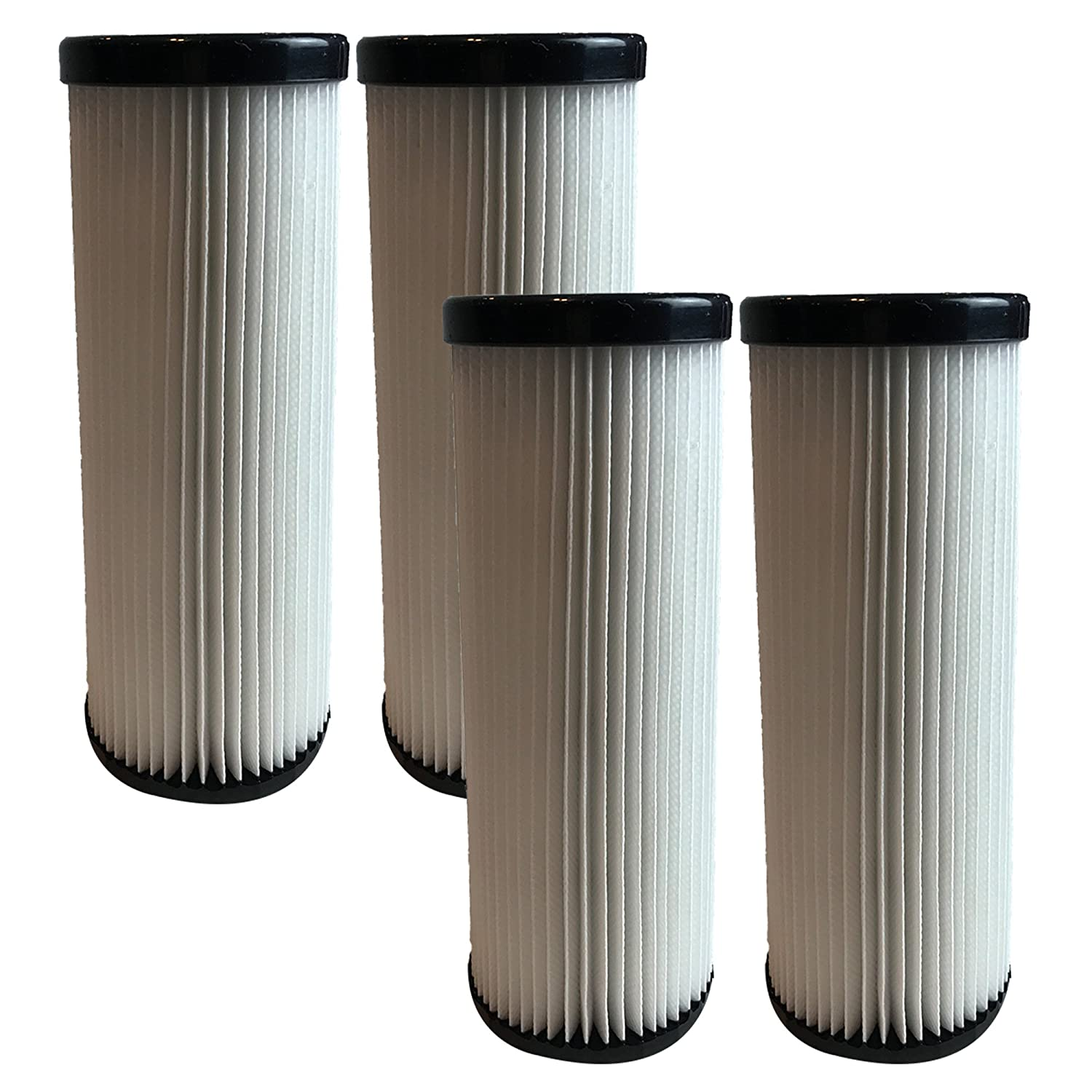 4 Dirt Devil F1 HEPA Filters, Long-Life WASHABLE, REUSABLE and HEPA Filtration, Compare With Dirt Devil Part # 3-JC0280-000, 2-JC0280-000 (3JC0280000, 2JC0280000), Designed and Engineered by Crucial Vacuum