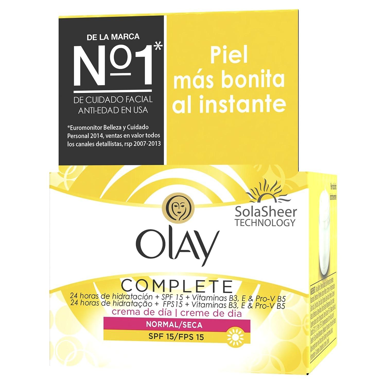 Crema Hidratante de Día Olay Complete 3 en 1 con SPF15 para mujer (pieles normales/secas) - 50 ml: Amazon.es: Belleza