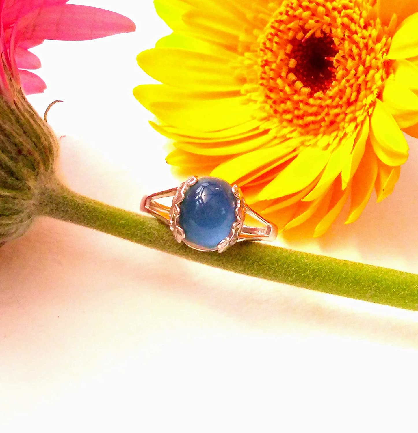 Sterling Silver Mood Ring Colour Changing Ring Colour Change Ring Mood Ring for Children Oval Silver Mood Ring