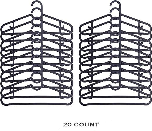 20 Pack Ikea Hangers Flexible Sturdy Black
