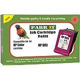 Parrot Refill for HP 803 Multi tri Color Ink Cartridge for deskjet 1111 1112 2131 2132 2621