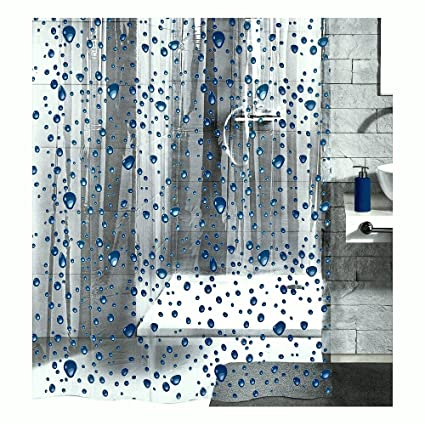 Amazon PEVA Shower Curtain Liner Clear