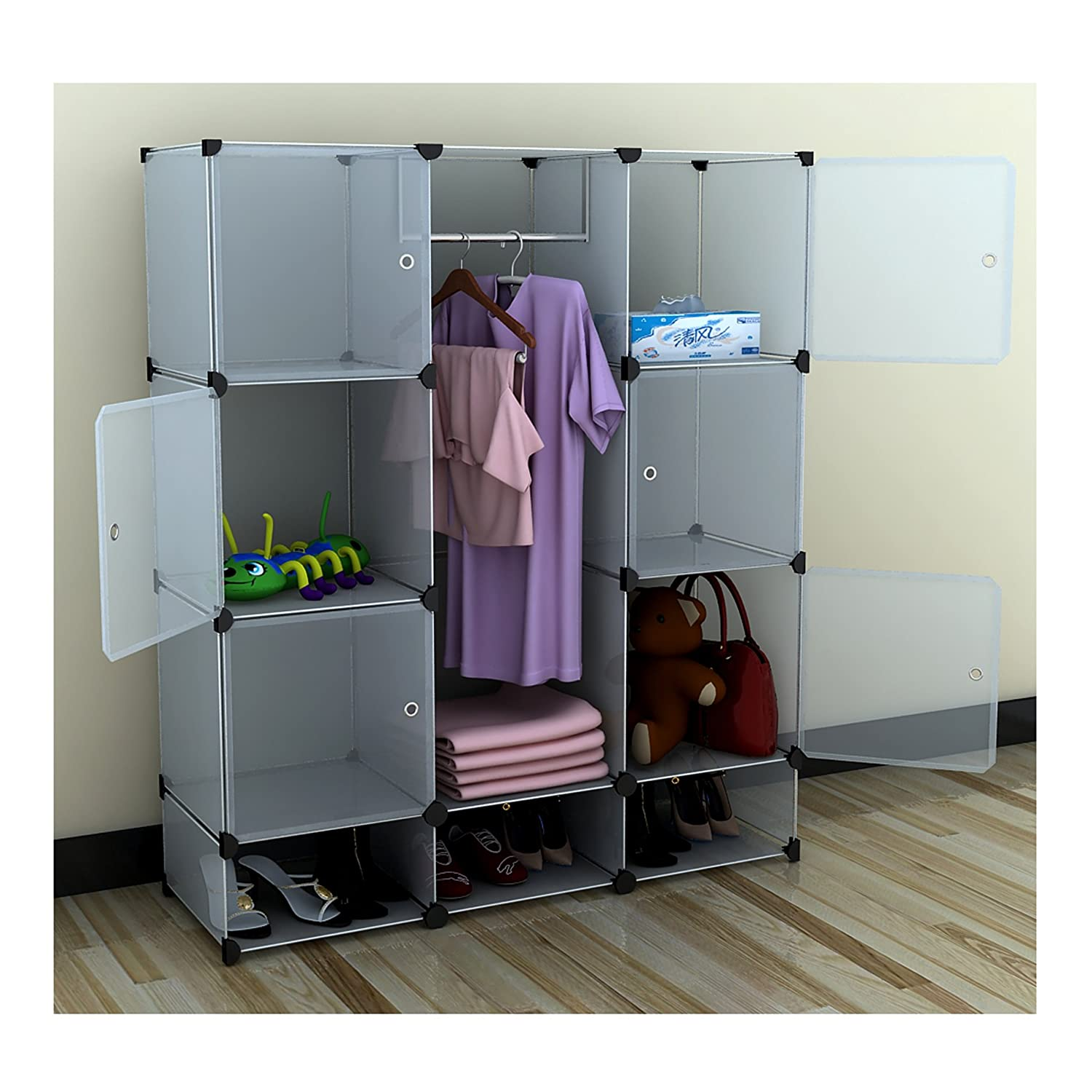 rack organizer quot clothes storage wardrobe for walmart at home closets with target closet portable