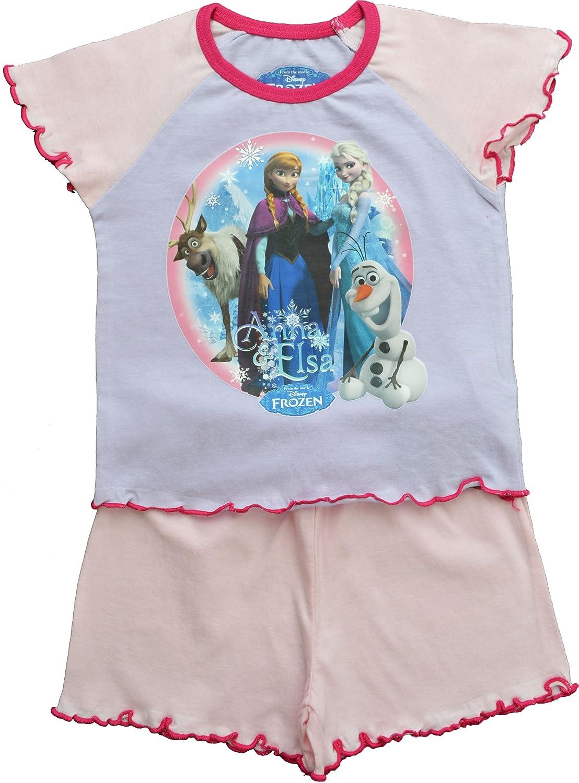 Ropa de Descanso para niñas pantalón Corto de Nieve Pijama de Frozen lámina de a Partir de 18 Meses a 4 años: Amazon.es: Ropa y accesorios