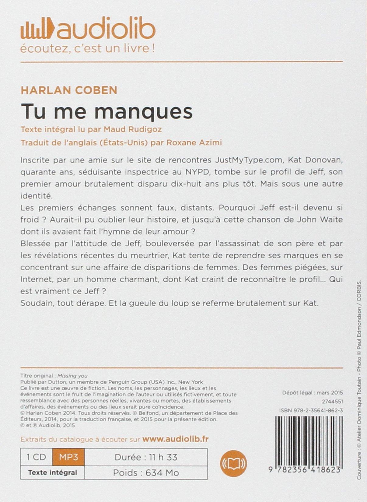 Tu Me Manques Livre Audio 1 Cd Mp3 Audio Book French