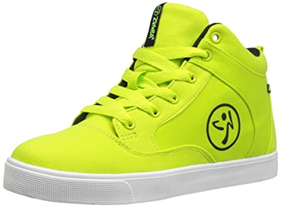 Zumba Athletic Footwear Womens Street Fresh Lightweight Dance Workout Sneakers with Ankle Support Shoe, Green