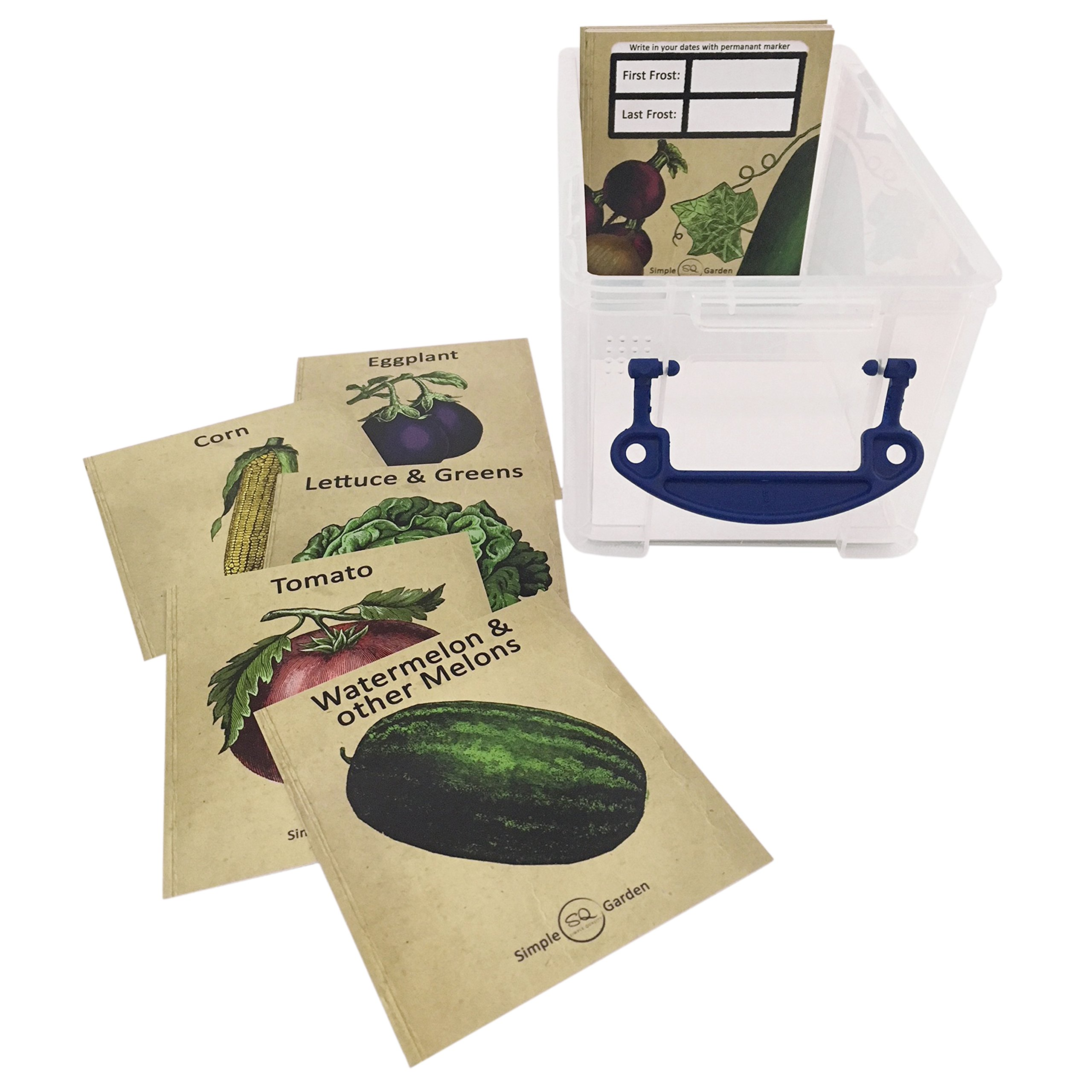 Seed Storage Container Organizer Garden Box with 23 Vintage Heirloom Vegetable Design Divider Cards. by Simple Quality (Image #5)