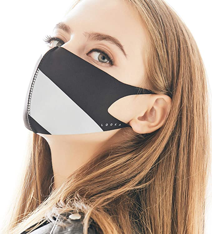 Face Fashion Double Air And Black Mask Reusable Looka Grey Protective X Layered Washable