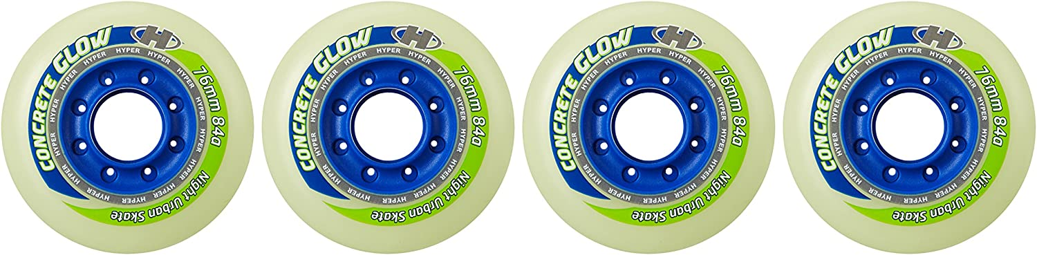 G 84/A Inline Skates Component Pack of HYPER Freestyle Wheels Inline Skating Wheels Concrete