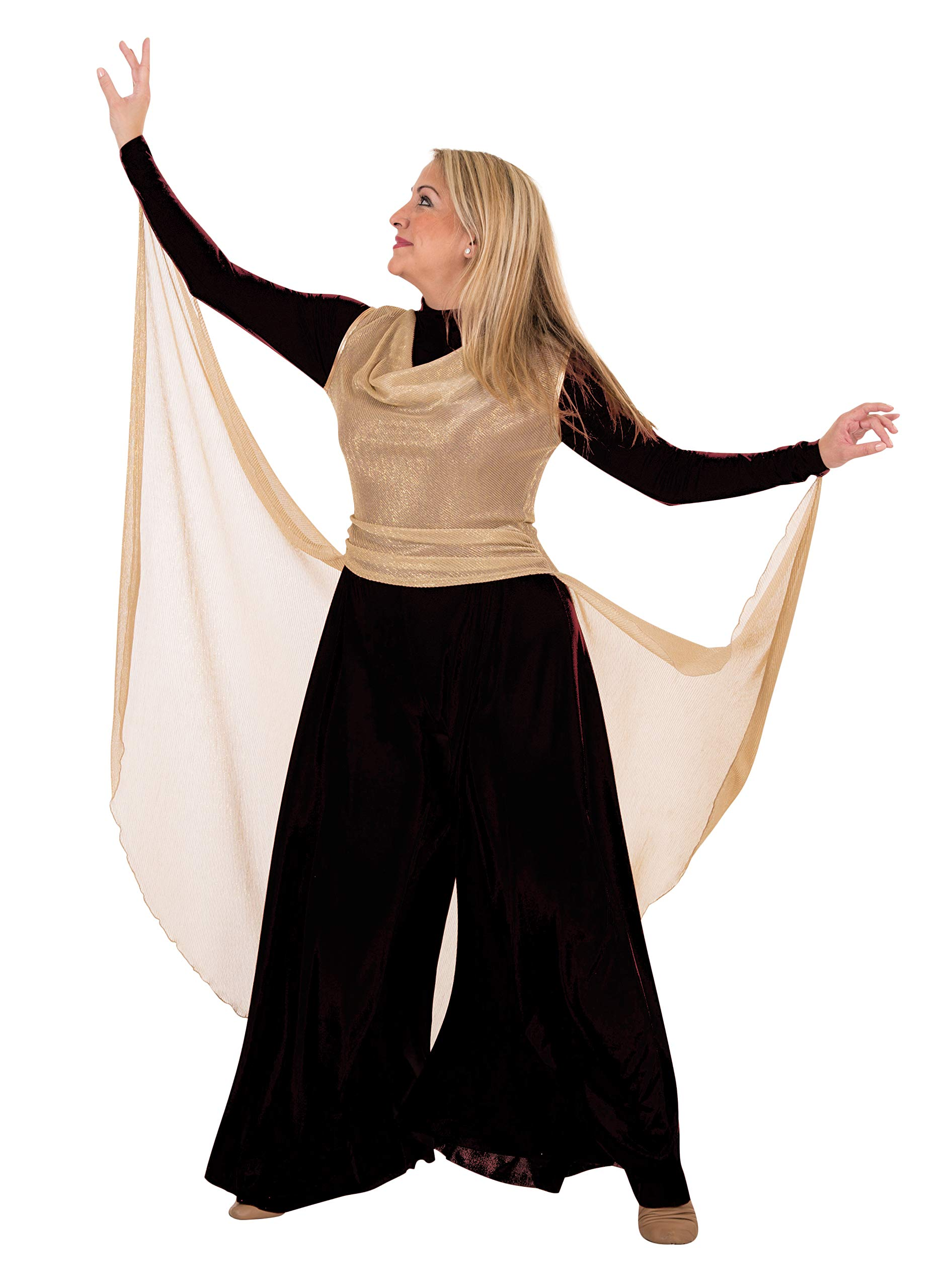 Praise Dance Pullover Gold Metallic Syle 681 (3X) by Body Wrappers