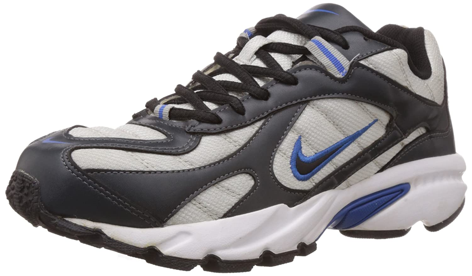 6fdf48261baf91 Nike Men's 2.04 in Metallic Silver, Anthracite, Signal Blue, White Running  Shoes -7 UK/India (41 EU)(8 US): Buy Online at Low Prices in India -  Amazon.in