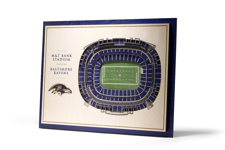 "YouTheFan NFL 5-Layer 17"" x 13"" StadiumViews 3D Wall Art"