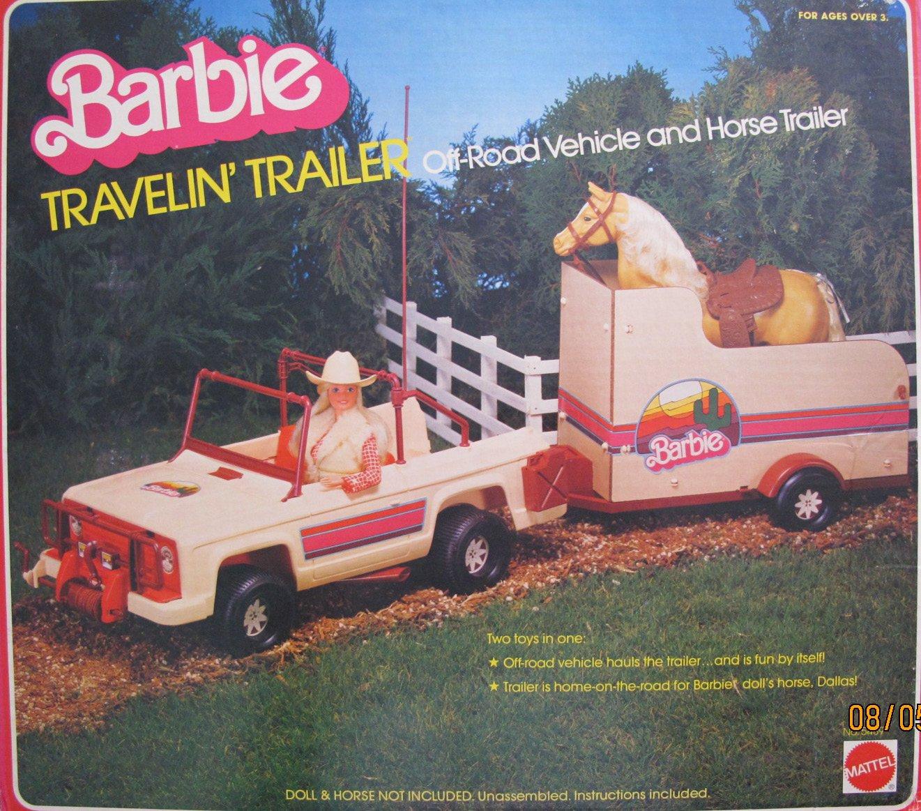 Amazon Barbie Travelin Trailer Off Road Vehicle Horse