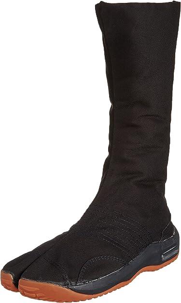 12-Fastener Black Tabi Boots
