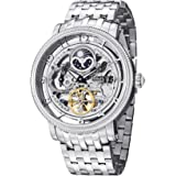 Stuhrling Original Symphony DT Men's Silver Dial Stainless Steel Band Automatic Watch - 411.33112