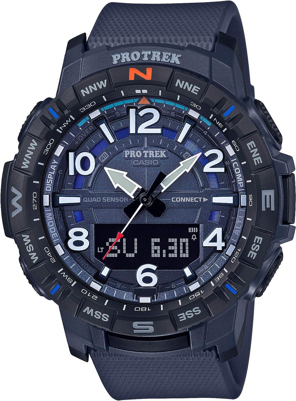 Casio Men s Pro Trek Bluetooth Connected Quartz Sport Watch with Resin Strap, 22.2