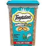 TEMPTATIONS Jumbo Stuff Crunchy and Soft Cat Treats, 14 oz. Tub