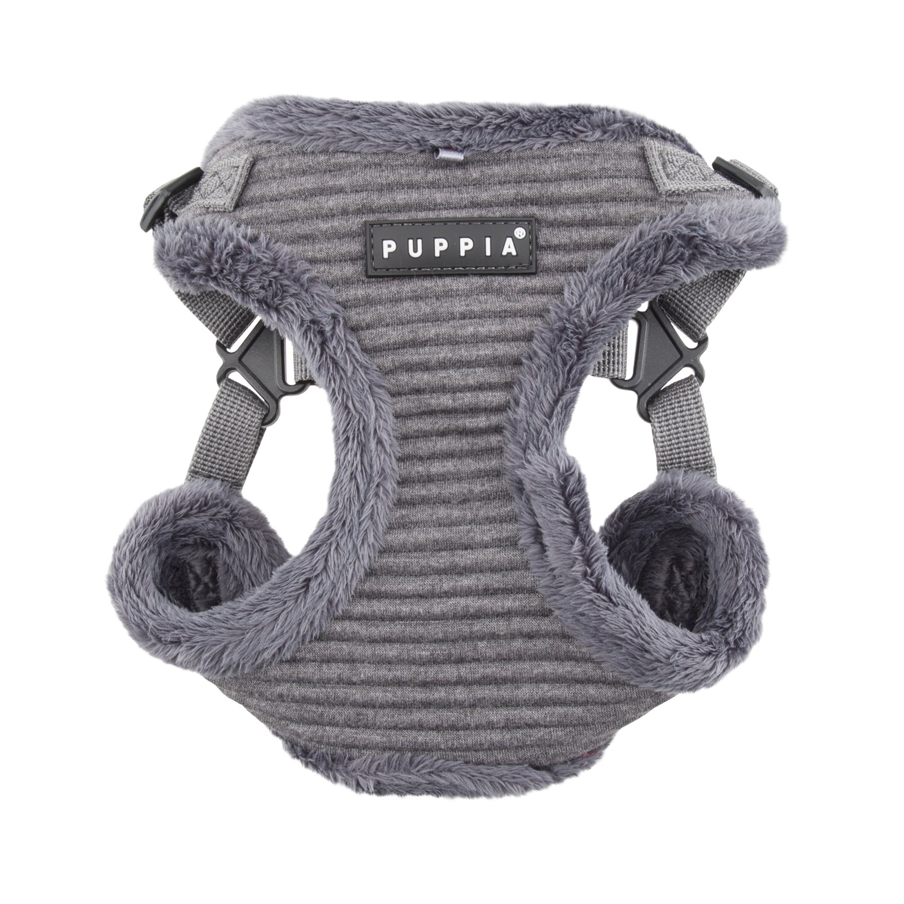 Puppia Troy Harness-C for Pets, Mélange Grey, Medium by Puppia