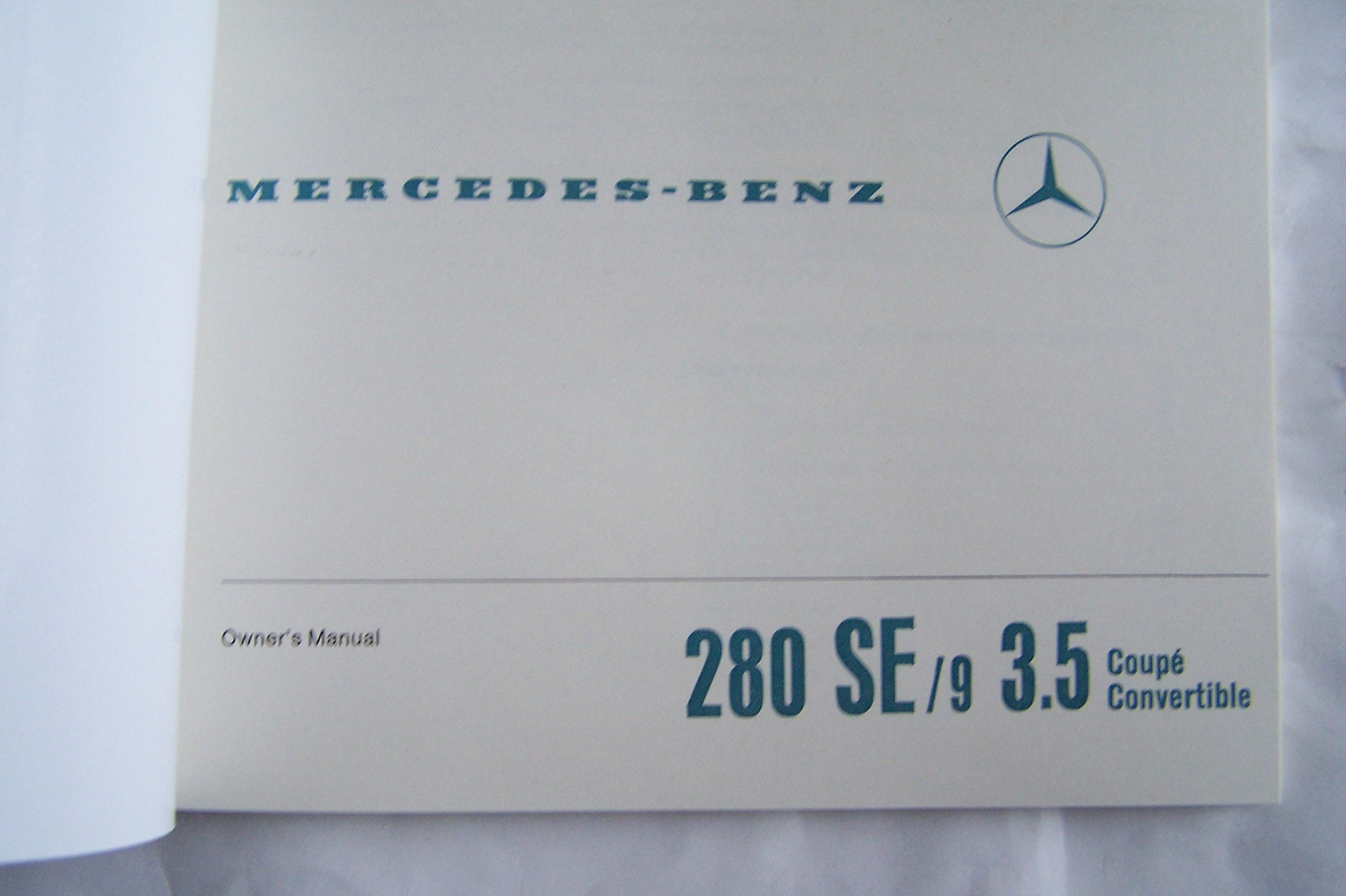 1971 Mercedes Benz 280 Se/c 3.5 Convertible Coupe Owners Manual 1970:  0609408151552: Amazon.com: Books