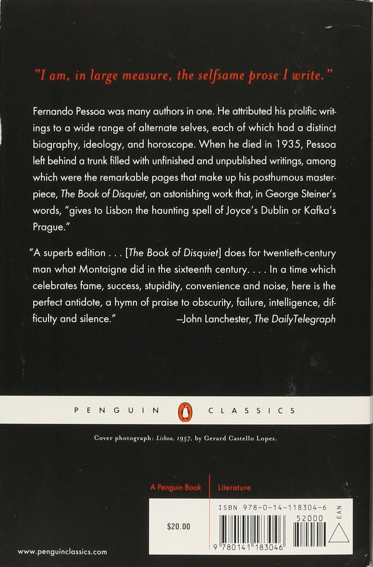 disquiet book of the pdf pessoa fernando