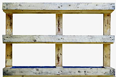 jardinera palet AD Servicios Jardinera Vertical De Palet Reciclado 120x81x13
