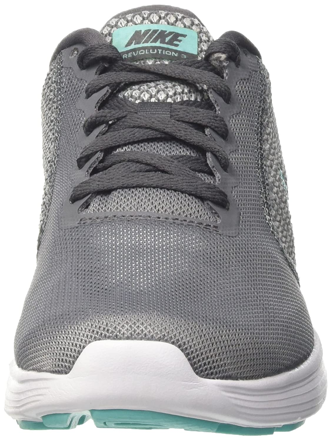NIKE Women's Revolution 3 Running Shoe B006WW3KM0 10 B(M) US|Cool Grey/Aurora Green/Dark Grey/White