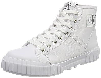 Bixi Nylon, Baskets Hautes Femme, Blanc (WHT 000), 37 EUCalvin Klein Jeans