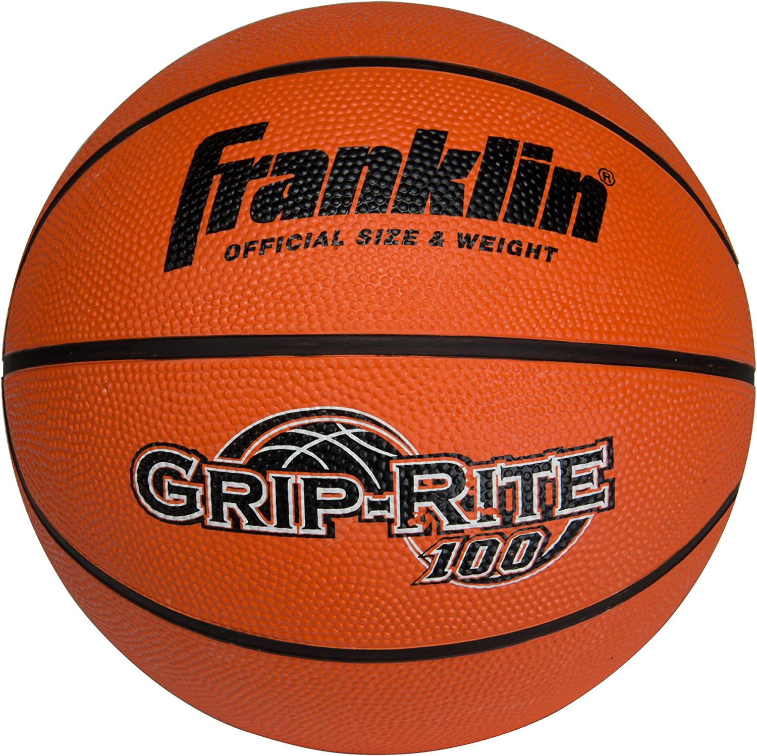 Franklin Sports Grip-Rite 100 Rubber Basketball (Size 7) : Sports & Outdoors
