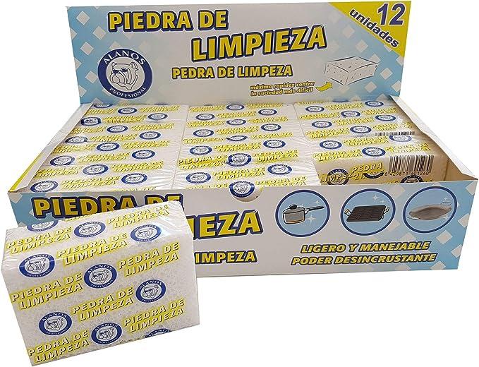 Alanos Profesional Piedras de Limpieza desincrustantes para planchas, sartenes y Utensilios de Cocina. Caja de 12 Unidades: Amazon.es: Hogar