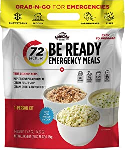 Augason Farms 72-Hour Be Ready Emergency Meal Kit, White, Small