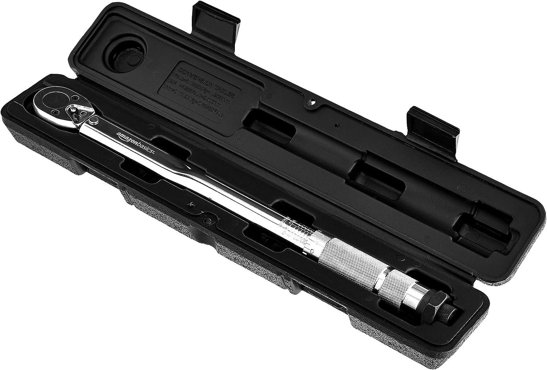 Basics Einrastender 3//8-Inch-Drehmomentschl/üssel 15-80 ft.-lb//20.4-108.5 Nm