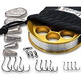 Yoyito Freshwater Aluminum Hand Line Reel Pocket Emergency Survival Fishing Kit