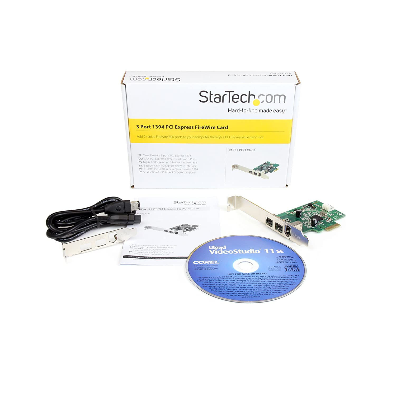 STARTECH.COM 3 Port 800+400 FireWire PCI Express: Amazon.de ...