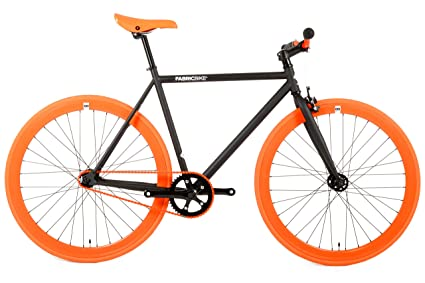 Fabric Bike de bicicleta fixie, color negro, Starre Buje, Single ...
