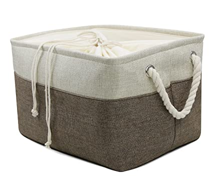 Lovely Collapsible Linen Storage Bins, Magazine Storage Basket, Portable Shelf Storage  Box, Closet/