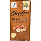 Chocolove XOXO Hazelnuts in Milk Chocolate Bar - 3.2 oz Bar